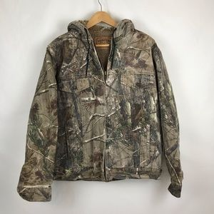Signature by Levi's Camo Hooded Sherpa Lined Coat